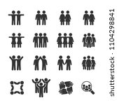 vector image set of friends and ... | Shutterstock .eps vector #1104298841