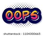 sound speach effect bubble with ... | Shutterstock .eps vector #1104300665