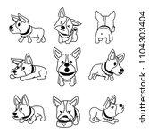 set of vector cartoon character ...   Shutterstock .eps vector #1104303404