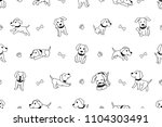 vector cartoon character... | Shutterstock .eps vector #1104303491