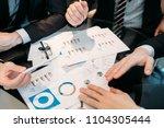 office meeting. business team... | Shutterstock . vector #1104305444