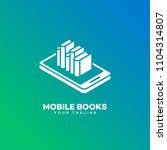 mobile books logo design...   Shutterstock .eps vector #1104314807