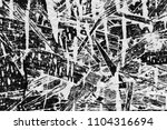 black and white wooden fence... | Shutterstock . vector #1104316694