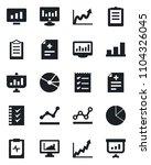 set of vector isolated black... | Shutterstock .eps vector #1104326045