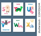 alphabet printable flashcards... | Shutterstock .eps vector #1104326144