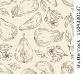 seamless pattern with pear ... | Shutterstock .eps vector #1104330137