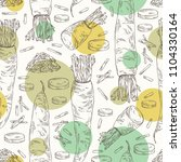 seamless pattern with daikon ... | Shutterstock .eps vector #1104330164