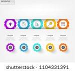 modern business infographic...   Shutterstock .eps vector #1104331391