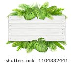 wooden sign with place for text ... | Shutterstock .eps vector #1104332441