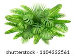 a bunch of tropical leaves.... | Shutterstock .eps vector #1104332561
