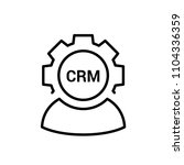 crm  customer relationship... | Shutterstock .eps vector #1104336359