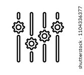 settings icon. outline icon... | Shutterstock .eps vector #1104336377