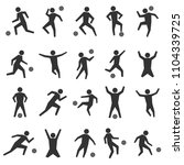 set of stick figures. black... | Shutterstock .eps vector #1104339725