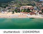 aerial view of town of sozopol  ... | Shutterstock . vector #1104340964