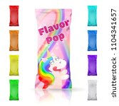 flavor pop ice cream colorful... | Shutterstock .eps vector #1104341657