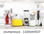 household and kitchen... | Shutterstock . vector #1104344537