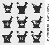 pharmacy and medical  icon set   Shutterstock .eps vector #1104345989