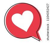 heart in a speech bubble ... | Shutterstock .eps vector #1104352427