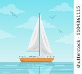 sailboat vector illustration.... | Shutterstock .eps vector #1104361115