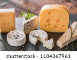 cheese board selection | Shutterstock . vector #1104367961