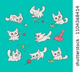 small white cats different... | Shutterstock .eps vector #1104368414