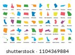 united states of america. 50... | Shutterstock .eps vector #1104369884