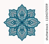 floral indian mandala with... | Shutterstock .eps vector #1104370559