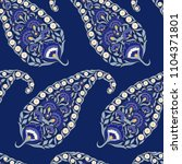 floral indian paisley pattern... | Shutterstock .eps vector #1104371801