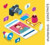 blogging and social media... | Shutterstock .eps vector #1104379475