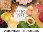 various foods that are perfect... | Shutterstock . vector #1104380807