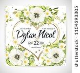 wedding heart floral template... | Shutterstock .eps vector #1104393305