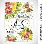 wedding floral template invite  ...   Shutterstock .eps vector #1104393311