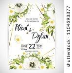 wedding floral template invite  ...   Shutterstock .eps vector #1104393377