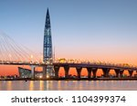 saint petersburg  russia  may... | Shutterstock . vector #1104399374
