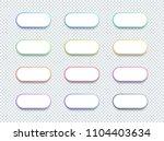 vector 3d shape white text box... | Shutterstock .eps vector #1104403634