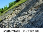 about 80 footprints of... | Shutterstock . vector #1104405431