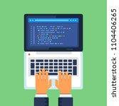 programming and coding  website ... | Shutterstock .eps vector #1104406265