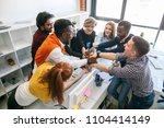 happy students of different... | Shutterstock . vector #1104414149