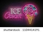 vintage glow poster with ice...   Shutterstock .eps vector #1104414191