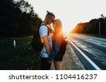 amazing caucasian couple...   Shutterstock . vector #1104416237