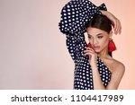portrait of beautiful sexy... | Shutterstock . vector #1104417989