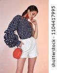 pretty beautiful sexy elegance... | Shutterstock . vector #1104417995