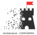 dispersed fortress tower dotted ...   Shutterstock .eps vector #1104418454