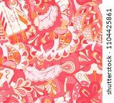 seamless mehndi vector pattern. ...   Shutterstock .eps vector #1104425861