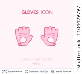 sport gloves icon isolated on...