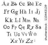 Vector Gothic Alphabet