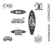 vintage surfing graphics and... | Shutterstock . vector #1104432341