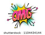 omg ouch oops wow comic text... | Shutterstock .eps vector #1104434144