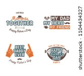fathers day badges  labels... | Shutterstock . vector #1104434327