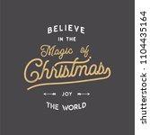 merry christmas lettering. let... | Shutterstock . vector #1104435164